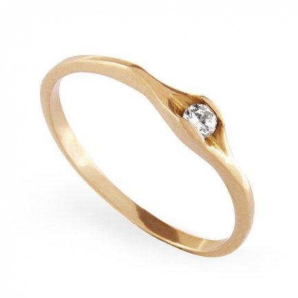 ARTES-Pierścionek złoty zaręczynowy A-50/375