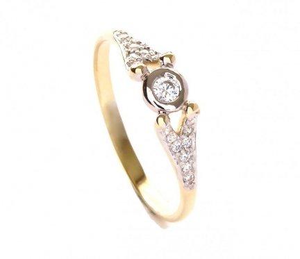 Pierścionek złoty 585 zaręczynowy 24H PROMOCJA!