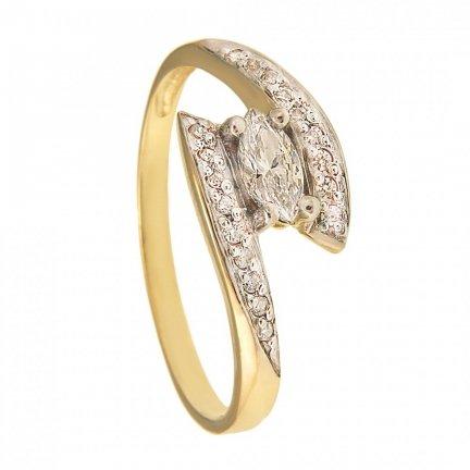 Pierścionek złoty zaręczynowy 24H PROMOCJA! PR.375