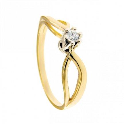 ARTES-Pierścionek złoty zaręczynowy BC-153 PR. 375