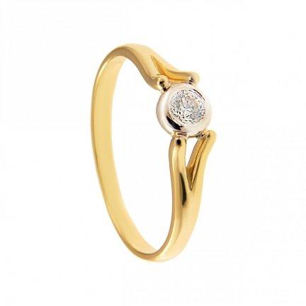 ARTES-Pierścionek złoty zaręczynowy 24H  PROMOCJA! BC-114 PR. 375