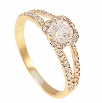 ARTES- Pierścionek złoty, zaręczynowy W-5045