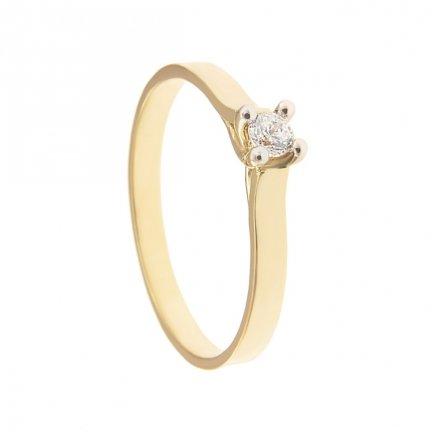 ARTES-Pierścionek złoty zaręczynowy BC-131 PR. 375
