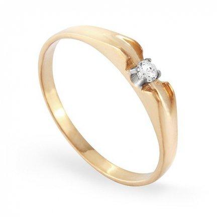 ARTES-Pierścionek złoty zaręczynowy A-95/375