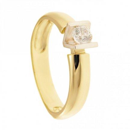 ARTES-Pierścionek złoty zaręczynowy BC-152 PR. 375