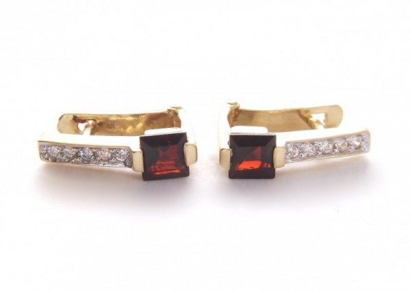 Kolczyki złote 585 na klapkę, zatrzaskowe - ARTES-Kolczyki złote 417 PR. 585