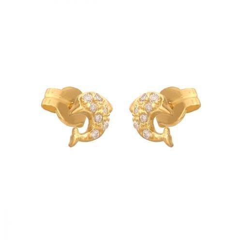 Kolczyki złote 585 sztyft - 30021