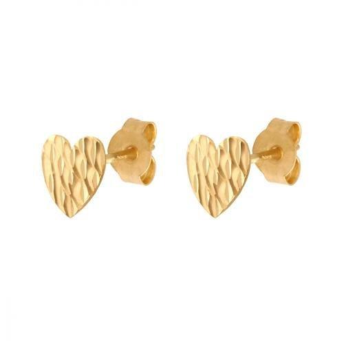 Złote kolczyki 585 - Kolczyki złote 585 sztyft - 33384