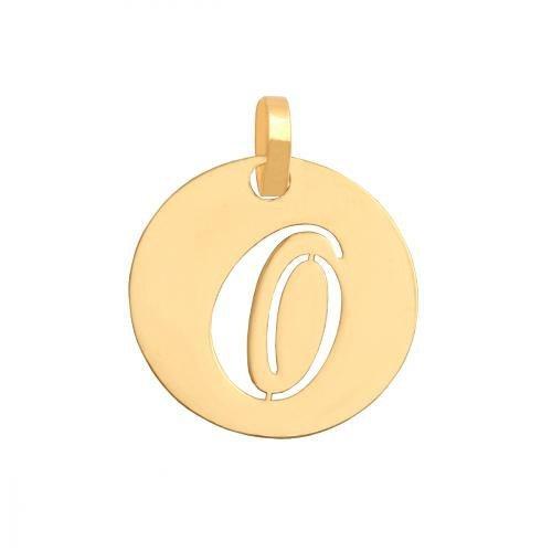 Zawieszka złota 585 litera, literka O -  34549