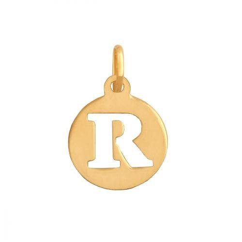Zawieszka złota 585 litera, literka R -  35372