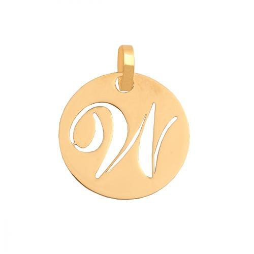 Zawieszka złota 585 litera, literka W -  35546