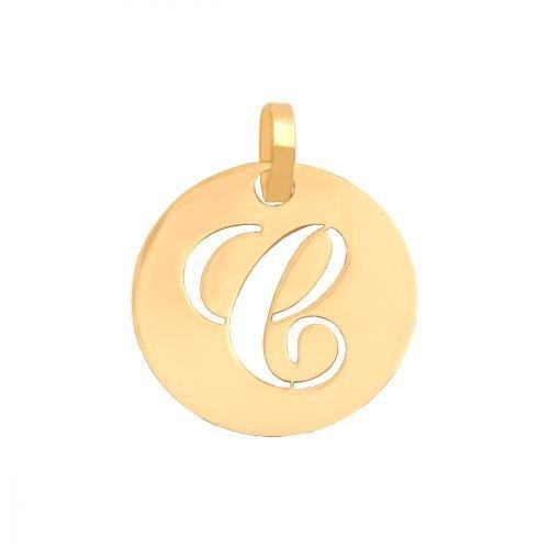 Zawieszka złota 585 litera, literka C -  35547