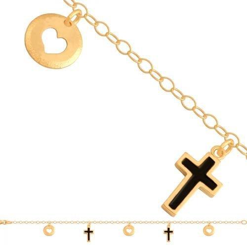 Bransoletka złota, damska 585 - 40936