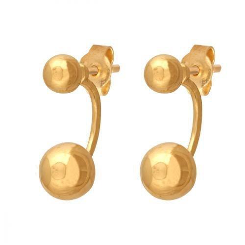 Złote kolczyki 585 - Kolczyki złote 585 sztyft - 41956