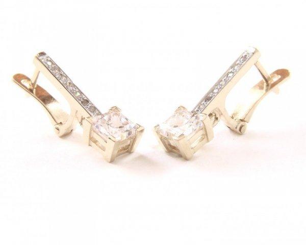 Kolczyki złote 585 na klapkę, zatrzaskowe - ARTES-Kolczyki złote 503 PR. 585