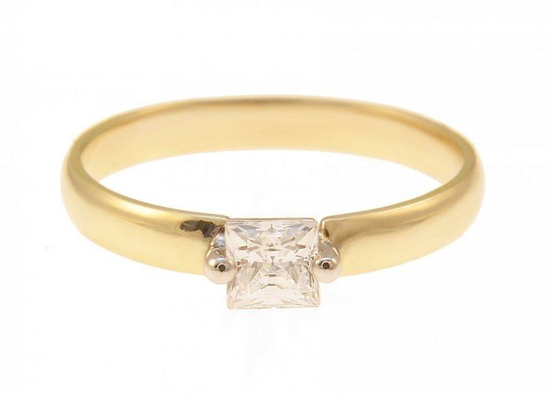 ARTES- Pierścionek złoty zaręczynowy 24H PROMOCJA! 662/375