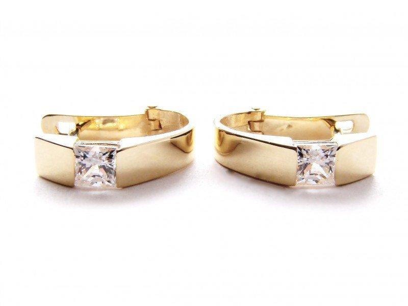 Kolczyki złote 585 na klapkę, zatrzaskowe - ARTES-Kolczyki złote 292 PR. 585