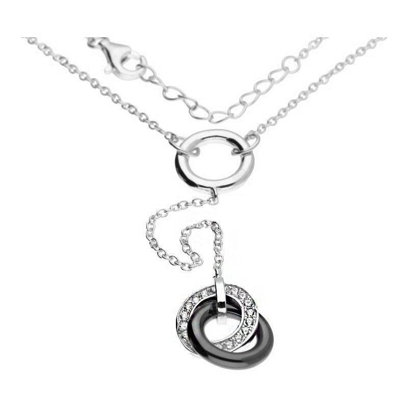 Celebrytka łańcuszek srebro 925 ring kółko 24H krawatka