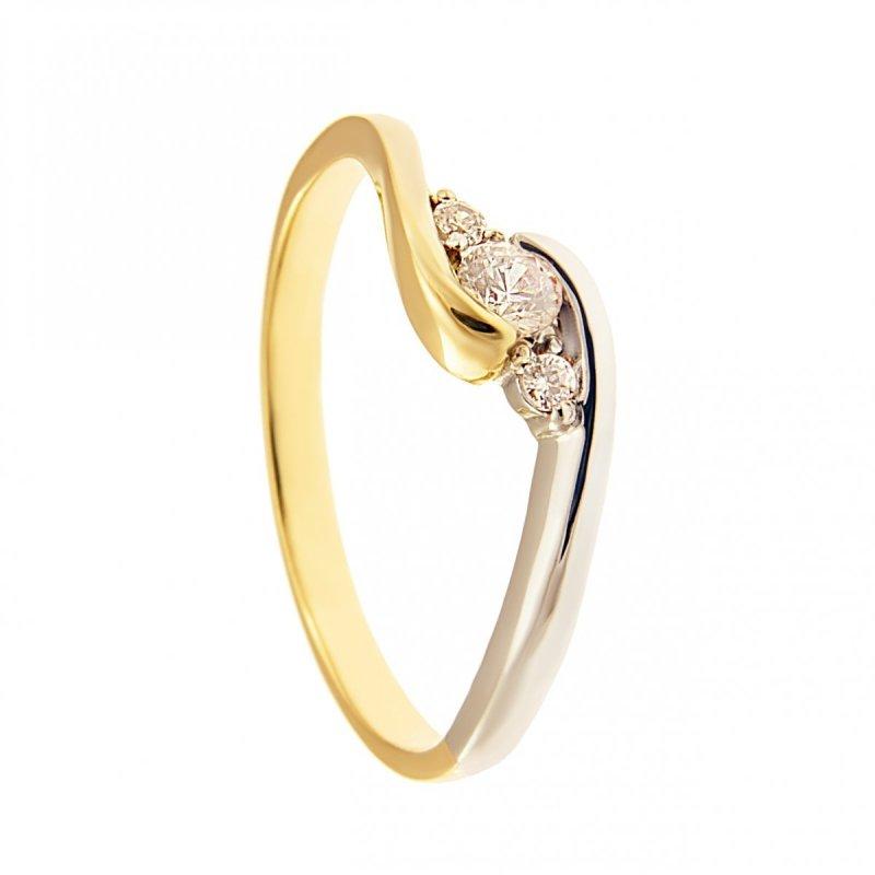 ARTES-Pierścionek złoty zaręczynowy 585 PROMOCJA 24H