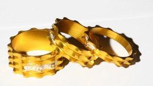 GUBbike-Zestaw 3 podkladek PRO-Turner 5/10/15 kolor- zloty(2012)