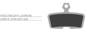 KLOCKI METALICZNE - Avid Code R/Code 11-14/Sram Code,Guid...