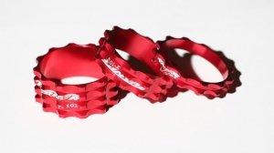 GUBbike-Zestaw 3 podkladek PRO-Turner 5/10/15 kolor- czerwony (2012)