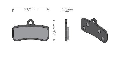 KLOCKI PÓŁMETALICZNE - Shimano BR-M81/820/640/MT520/Tektr...