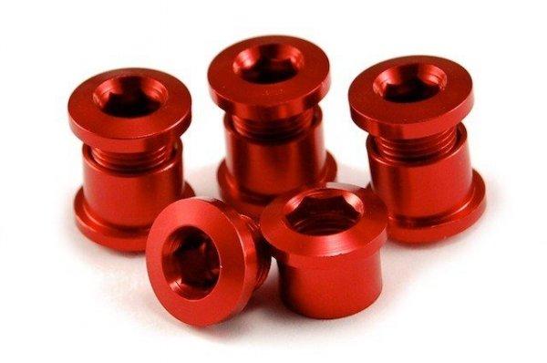 Aluminiowe śruby do korb z kominami kolor-czerwony (2012)