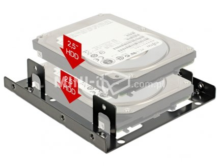 Adapter HDD 3,5'' na 2x2,5''