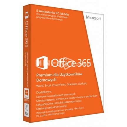 MICROSOFT Office 365 Home Premium PL 32-bit/x64 Subscr 1YR