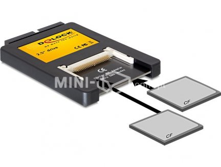 Adapter IDE 2.5 na 2 x Compact Flash Delock