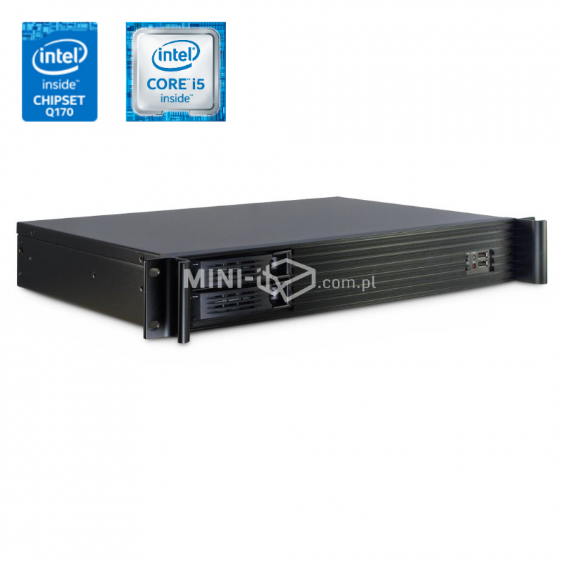 Komputer µForce Serwer Rack / Intel i5-6400 / 8GB RAM / 240GB SSD / Hot-Swap / 4x LAN / Mini-ITX