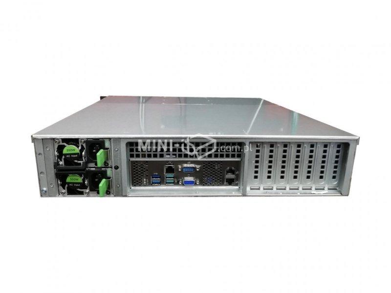 Komputer µForce Serwer Rack / Intel Xeon E-2124 / 8GB RAM / 2 x 1TB HDD / Mini-ITX