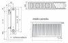 Grzejnik pokojowy Purmo CV22 600x1200 panelowy