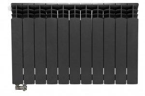 Grzejnik aluminiowy grafitowy z podłączeniem dolnym G500F 1550 W 11 członów