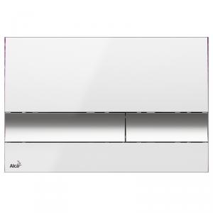 Alcaplast M1720-1 przycisk spłukujący WC biały chrom