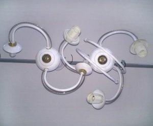Lampa sufitowa biała punktowa