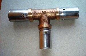Oventrop Cofit P Trójnik zaprasowywany 16x16x16