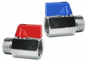 Zawór kulowy Mini WZ 1/2 cala Zaworek chrom rączka