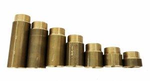 Przedłużka mosiężna 3/4 25 mm 25 bar wzmocniona