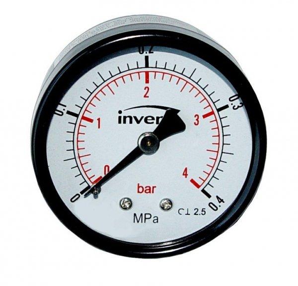 Manometr techniczny tylny 1/4 50mm do 4 bar axial