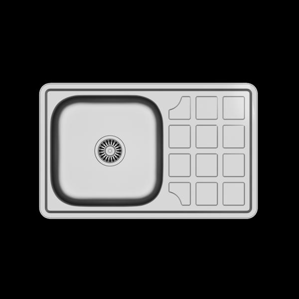 Zlewozmywak kuchenny Louis 111 74x48 1-komorowy +syfon