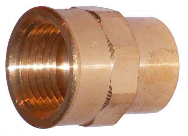 Złączka Miedziana Cu mufa 22x1 gwint wewnętrzny
