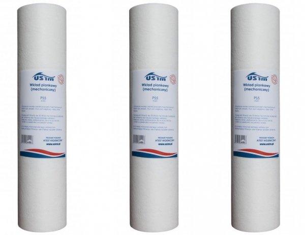 Wkład piankowy filtr mechaniczny do wody 50 mikr