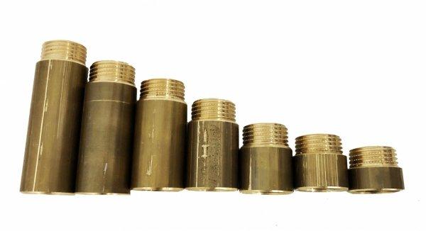 """Przedłużka mosiężna 3/4"""" 25 mm 25 bar wzmocniona"""