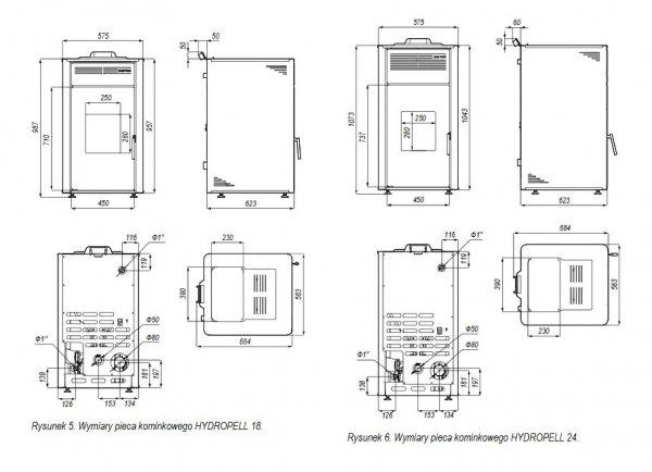 Defro Hydropell 18 piecyk z płaszczem wodnym 15 kW