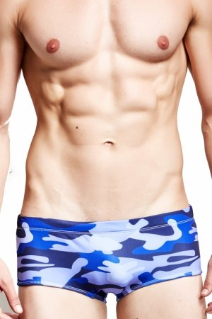 Plavky (Boxerky) Supa! Swim! Camo Royal Blue