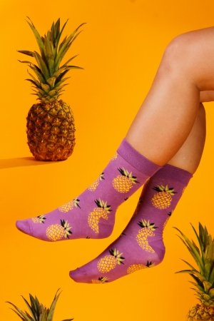Ponožky Supa! Sox! Purple Pineapple (AM0015)