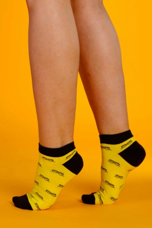 Supa! Sox! Yellow Glasses ladies socks