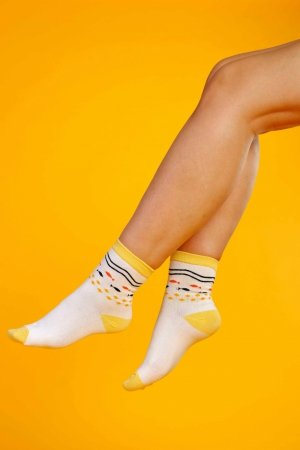 Supa! Sox! Yellow Fish ladies socks